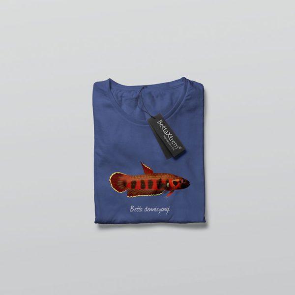 Camiseta de Hombre Azul Betta dennisyongi
