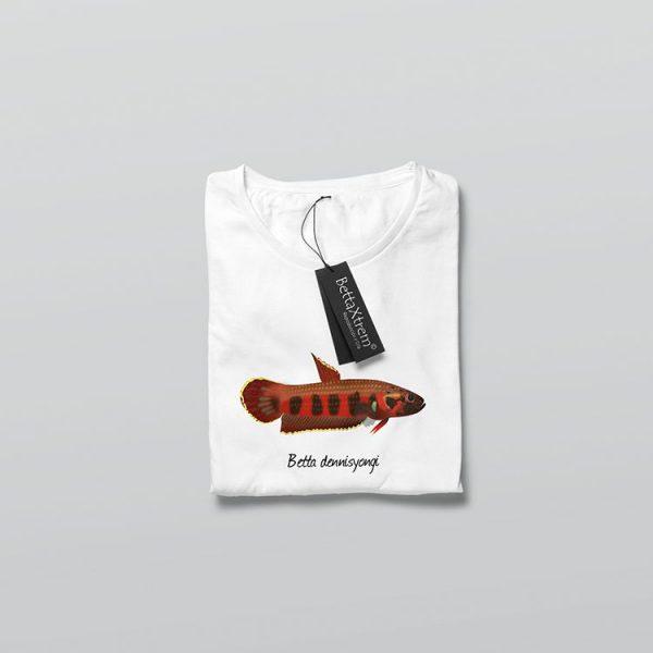 Camiseta de Hombre Blanca Betta dennisyongi