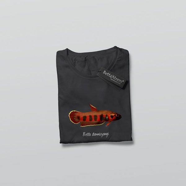 Camiseta de Hombre Negra Betta dennisyongi