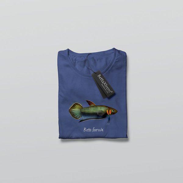 Camiseta de Hombre Azul Betta foerschi