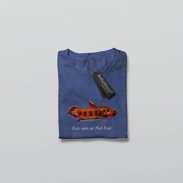 Camiseta de Hombre Azul Betta rubra var. Aceh Besar
