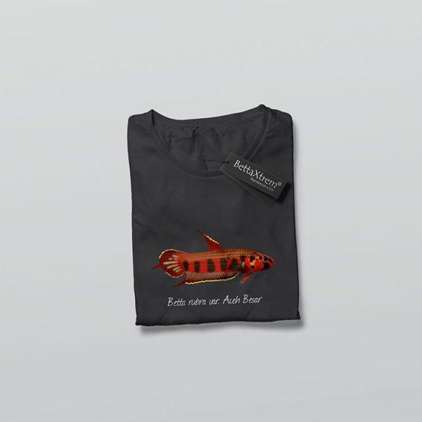 Camiseta de Hombre Negra Betta rubra var. Aceh Besar