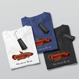 Camisetas de Hombre Betta rubra var. Toba Lake
