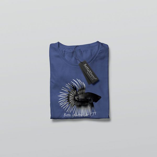 Camiseta de Hombre Azul Betta crowntail