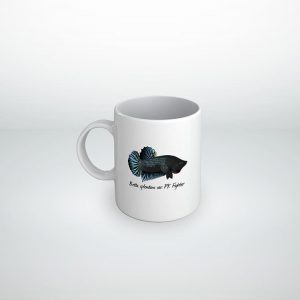 Taza Betta splendens plakat fighter