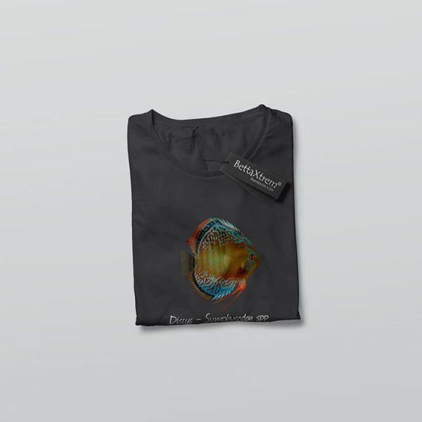 Camiseta de Hombre Negra Discus Symphysodon 2