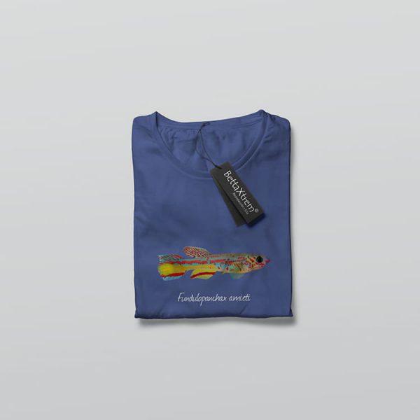 Camiseta de Hombre Azul Killi Fundulopanchax amieti