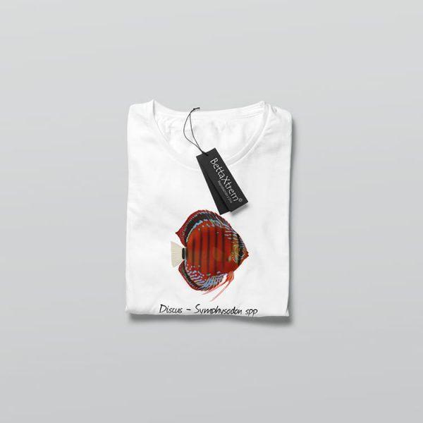 Camiseta de Mujer Blanca Discus Symphysodon 1