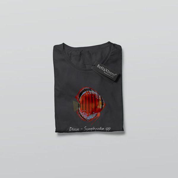 Camiseta de Mujer Negro Discus Symphysodon 1