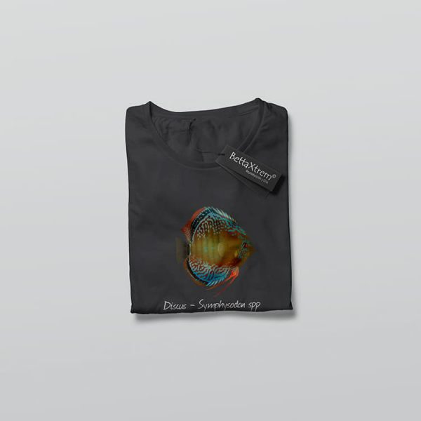 Camiseta de Mujer Negra Discus Symphysodon 2