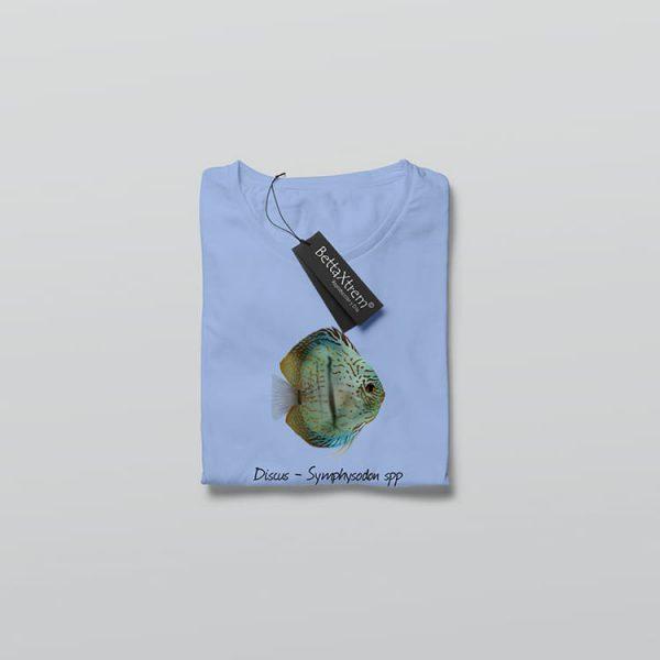 Camiseta de Mujer Azul Discus Symphysodon 3