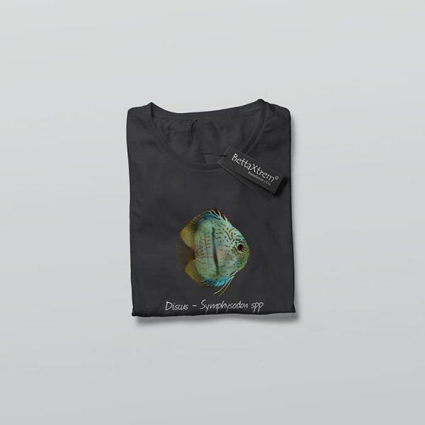 Camiseta de Mujer Negra Discus Symphysodon 3