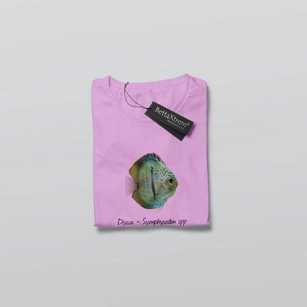 Camiseta de Mujer Rosa Discus Symphysodon 3