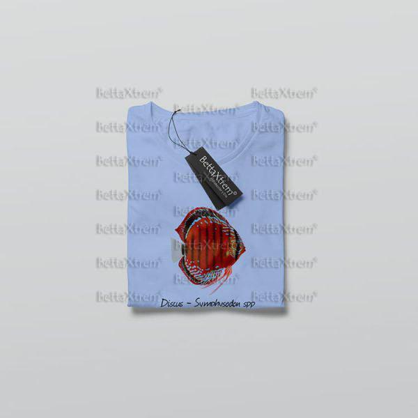 Camiseta de Niño y Niña Azul Discus Symphysodon 1