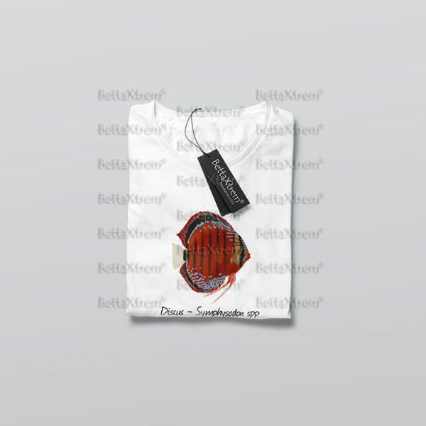 Camiseta de Niño y Niña Blanca Discus Symphysodon 1