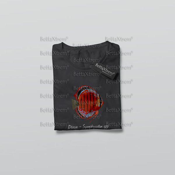 Camiseta de Niño y Niña Negra Discus Symphysodon 1