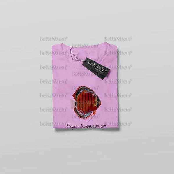 Camiseta de Niño y Niña Rosa Discus Symphysodon 1