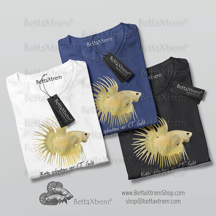 Camisetas de Hombre Betta splendens crowntail gold