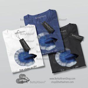 Camisetas de Hombre Betta splendens halfmoon butterfly azul