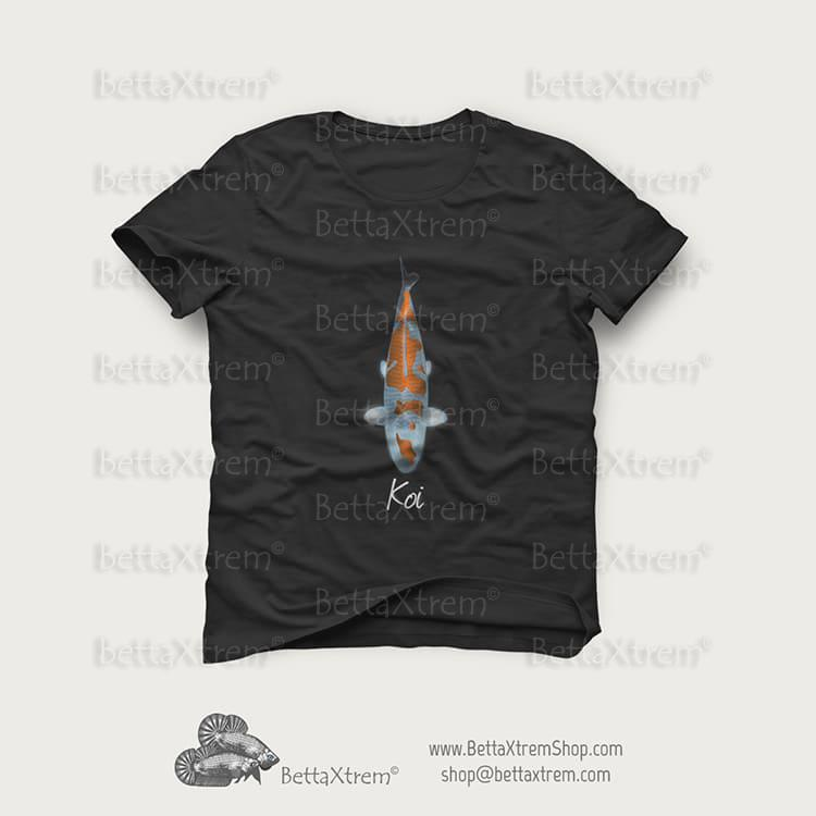 Camisetas de hombre carpa koi 16 bettaxtremshop for Carpa koi negra