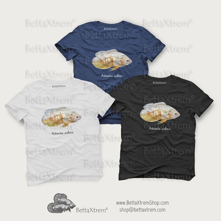 Camisetas de Hombre Astronotus ocellatus albino 1